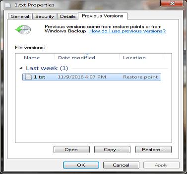 從以前的版本救援 Windows 10/8/7/XP/Vista 永久刪除檔案